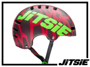 Helm Jitsie Armor Kroko - red/green
