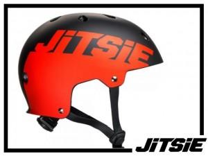 Helm Jitsie Solid - schwarz/rot M