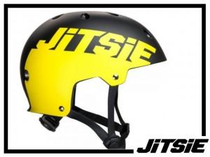 Helm Jitsie Solid - schwarz/gelb M