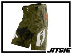 Short Jitsie B3 Kroko - khaki/white