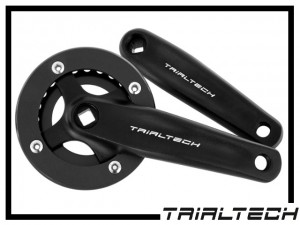Kurbelpaar Trialtech Race 4-Kant 170mm 22Z.