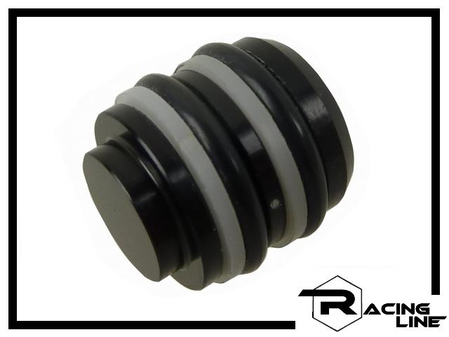 Racing Line Bremskolben 14mm Aluminium - schwarz