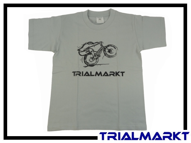 T-Shirt Trialmarkt Kids - Pacific Grey 7/8 Jahre
