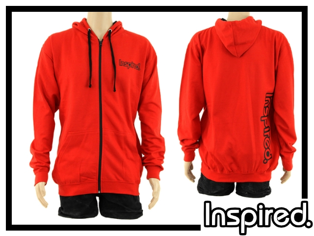 Inspired Hoody Zip Sweatshirt - rot XL