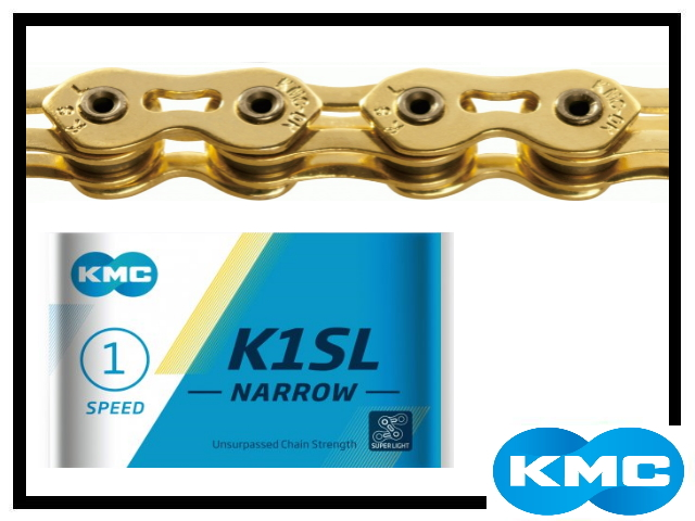 Kette KMC K1SL - narrow - gold