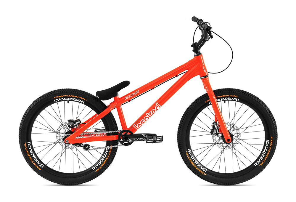 "Bike 24"" Inspired Fourplay Team - neonrot Hope Tech 3 Trial disc - hydraulisch"