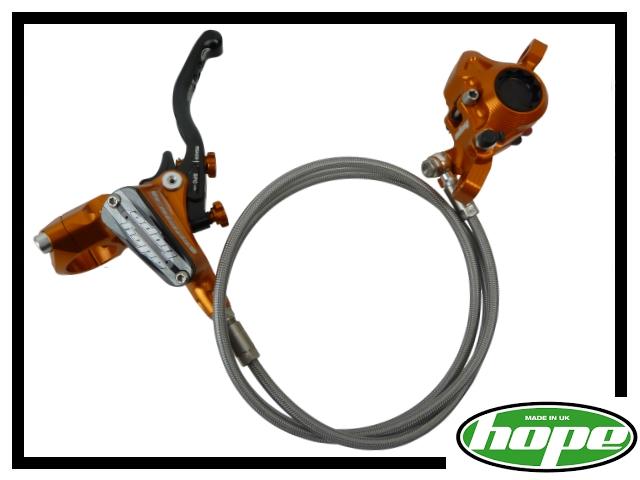 VR-Bremse Hope Tech 3 Trial PM Stahlflex - orange links