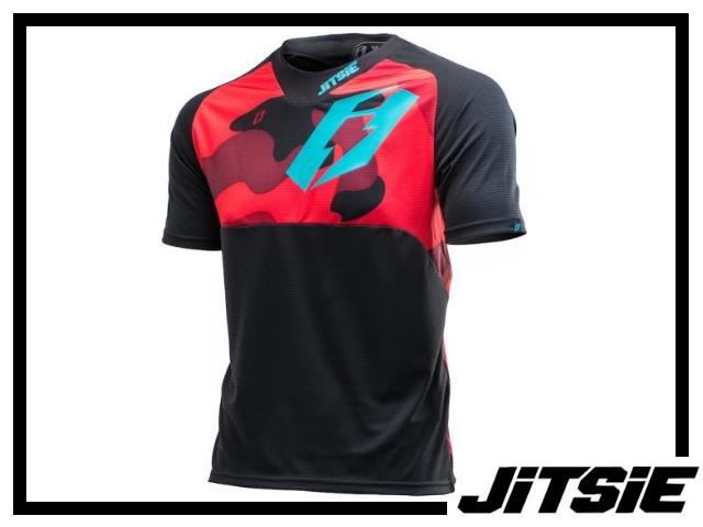 Jersey Jitsie B3 Squad kurzarm - 2017 - red/teal Kids XL