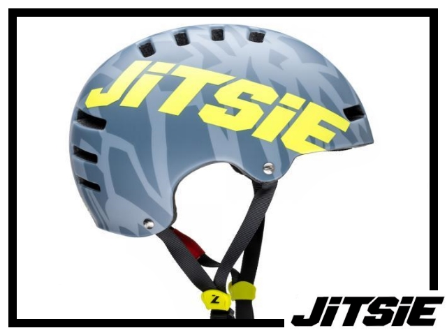 Helm Jitsie Armor Kroko - silver/yellow S