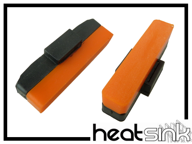 Bremsbeläge Heatsink - orange
