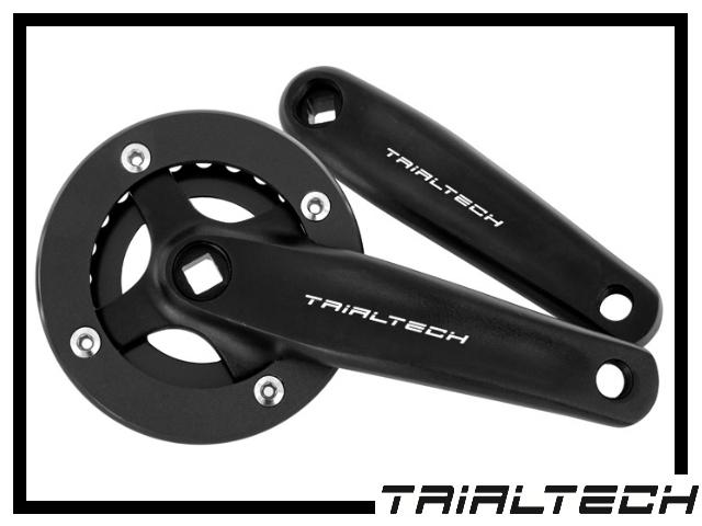 Kurbelpaar Trialtech Race 4-Kant 162mm 24Z.